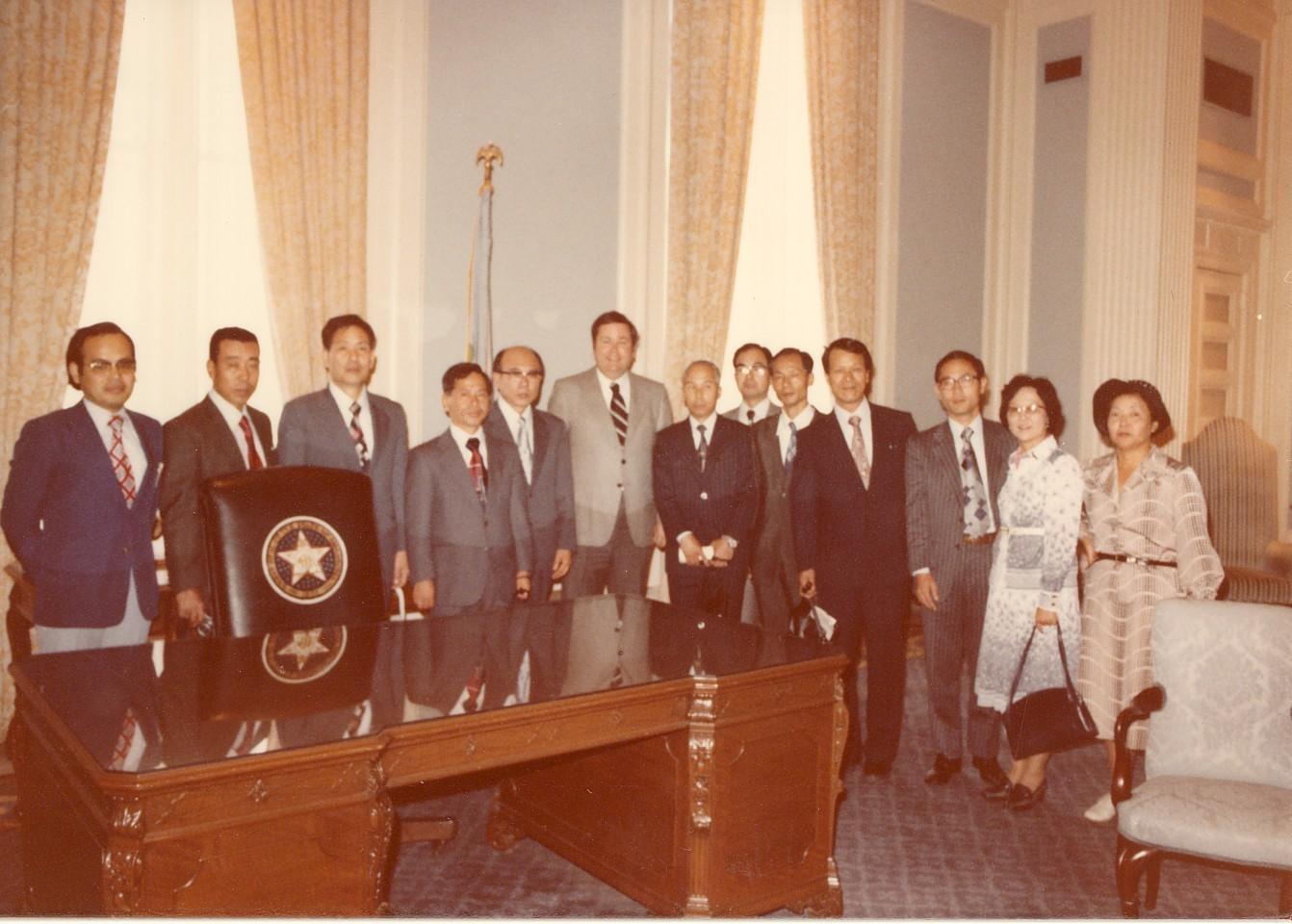 ボーレン・オクラホマ州知事を表敬訪問(1977年10月)