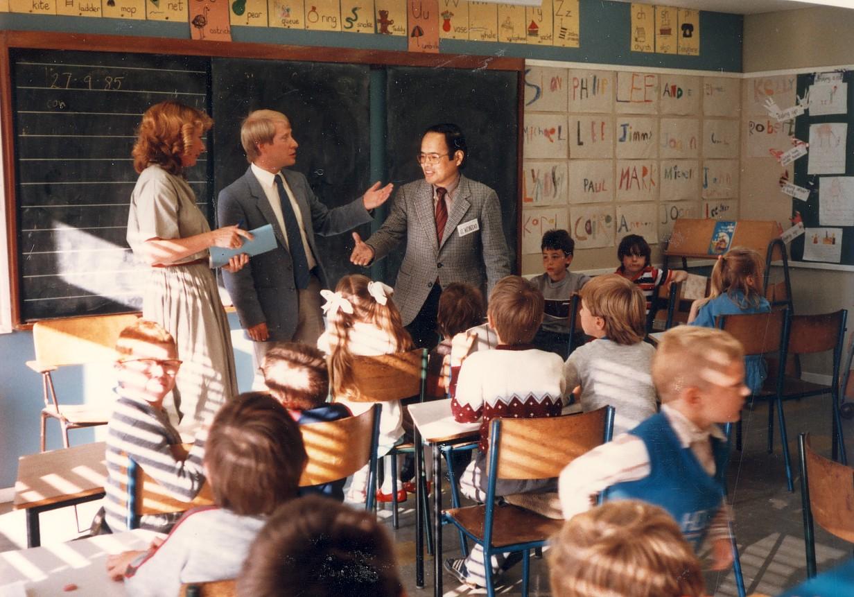 エバレット(ワシントン州)小学校訪問 1983年9月
