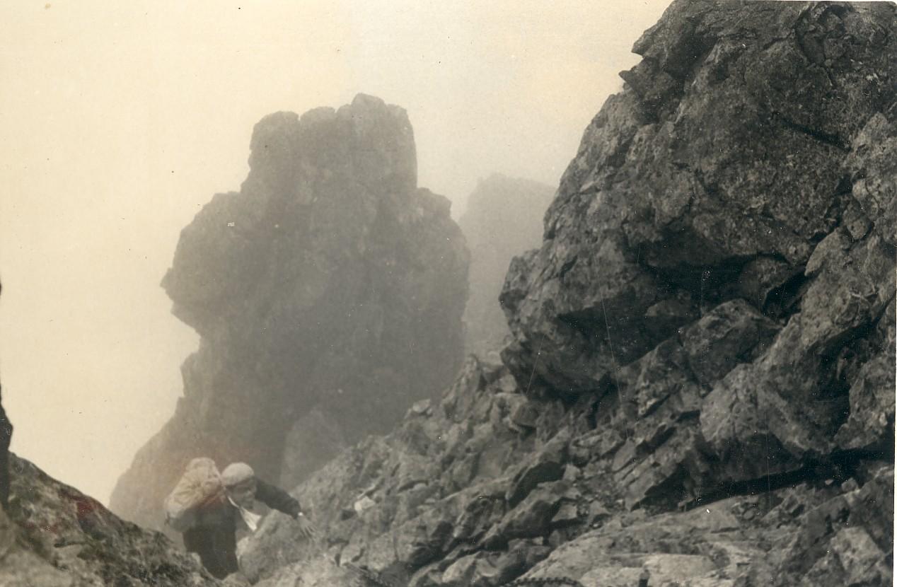 北ア・鹿島槍/唐松岳間八峰キレットをトラヴァース 1962年7月