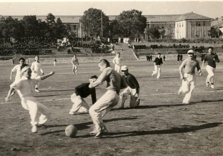 高校3年時、恒例の校内対抗サッカー大会で