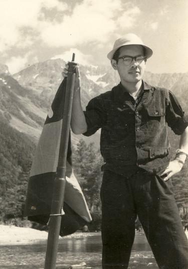 慶大アルペンクラブへ入部、 初めての夏山合宿 上高地にて 1959年7月