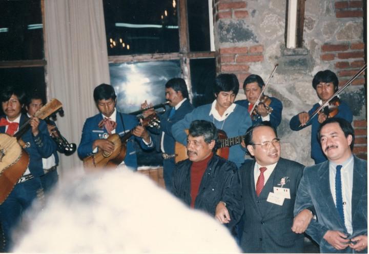 メキシコ・アメカメカ市教育委員会による歓迎パーティ 1991年10月