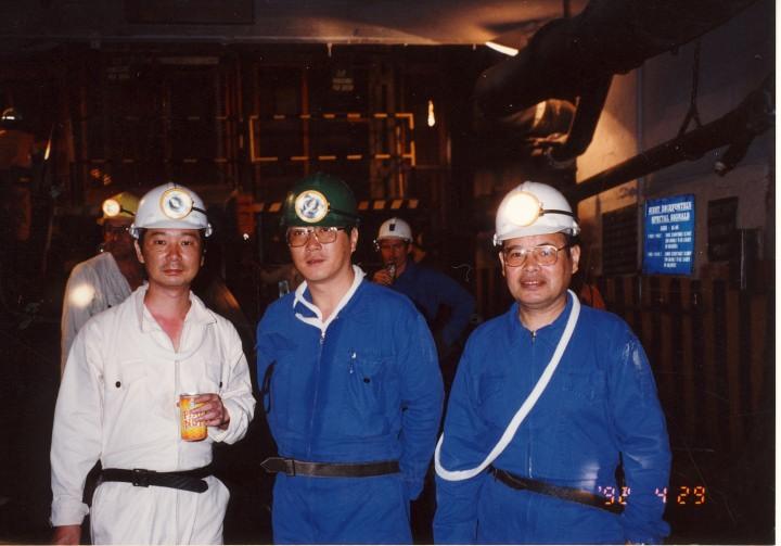 地下1,799mの南ア金鉱山 1992年5月
