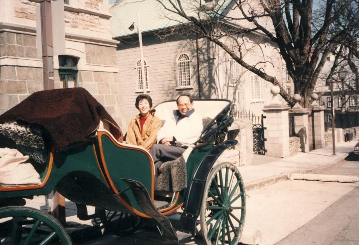 銀婚旅行へ カナダ・ケベック市内 1994年5月