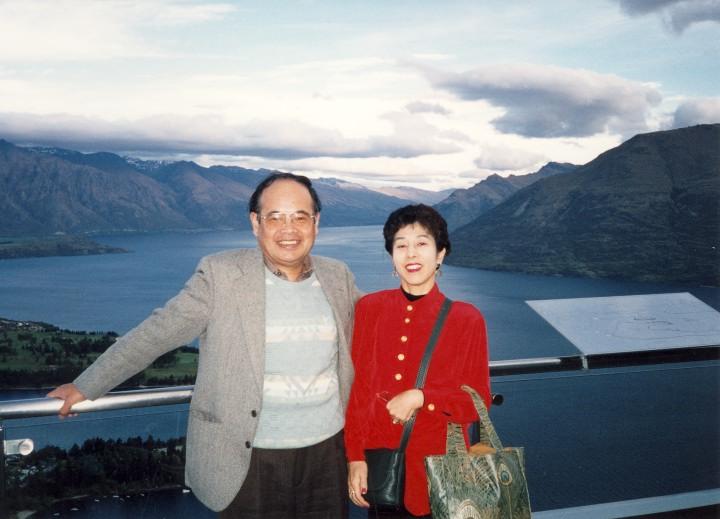 ニュージーランド・クィーンズタウンの展望台にて 1997年10月
