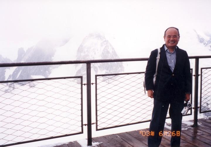 霧のモンブラン展望台(3,842m) 2003年6月