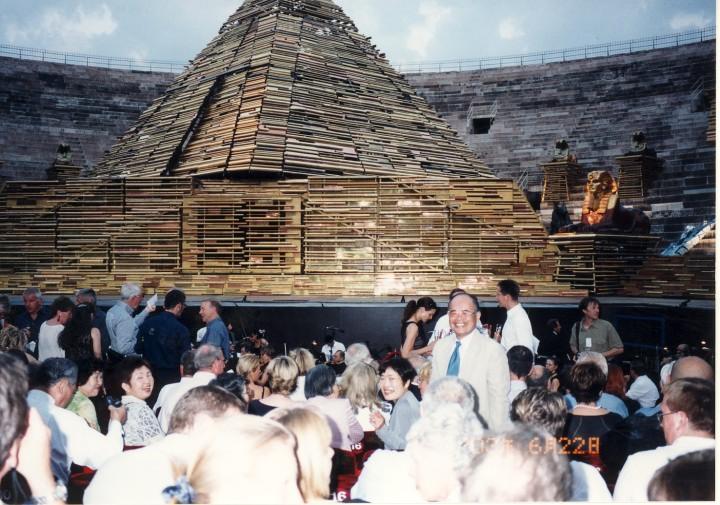 ヴェローナのコロッセオ野外劇場でオペラ「アイーダ」鑑賞 2003年6月