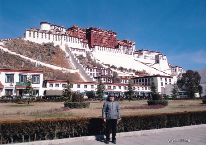 世界遺産 ポタラ宮殿前 2007年11月